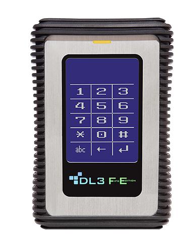DataLocker DL3 FE 500GB Black,Metallic external hard drive