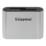 Kingston Technology Workflow SD Reader card reader USB 3.2 Gen 1 (3.1 Gen 1) Black, Silver
