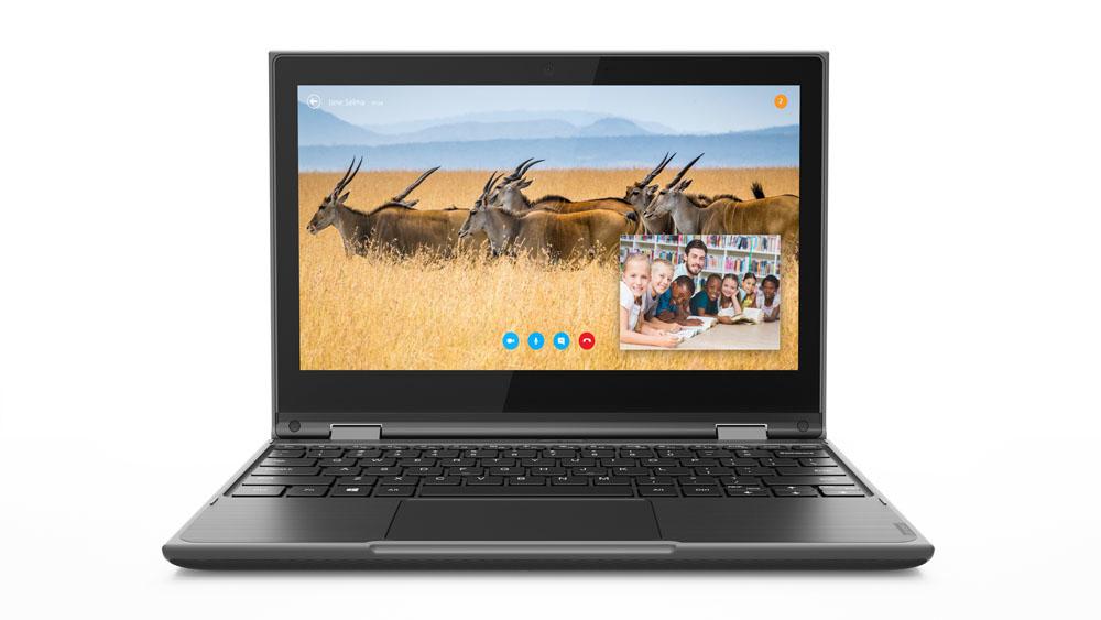 "Lenovo 300e 2nd Gen Zwart Hybride (2-in-1) 29,5 cm (11.6"") 1366 x 768 Pixels Touchscreen Intel® Celeron® N4100 4 GB LPDDR4-SDRAM 64 GB eMMC"