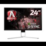 AOC Gaming AG241QG PC Flachbildschirm 61 cm (24 Zoll) 2560 x 1440 Pixel Quad HD LED Schwarz, Rot