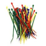 """Belkin Multicolor Nylon Tie Wraps, 4"""" Nylon Multicolour Cable Tie"""