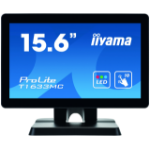 "iiyama ProLite T1633MC-B1 touch screen monitor 39.6 cm (15.6"") 1366 x 768 pixels Black Multi-touch Multi-user"