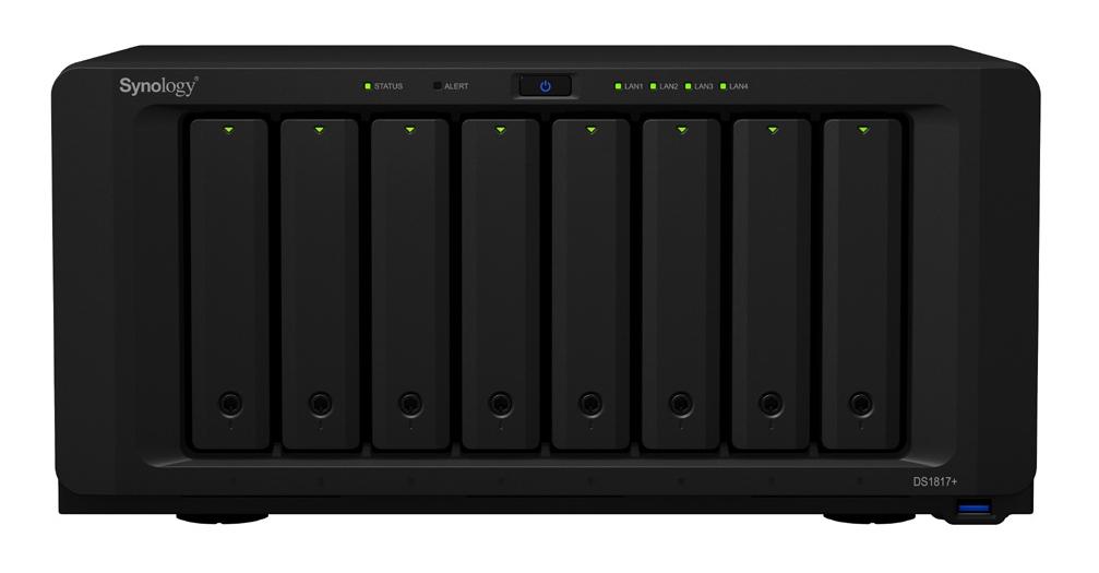 Synology DiskStation DS1817+ Ethernet LAN Desktop Black NAS