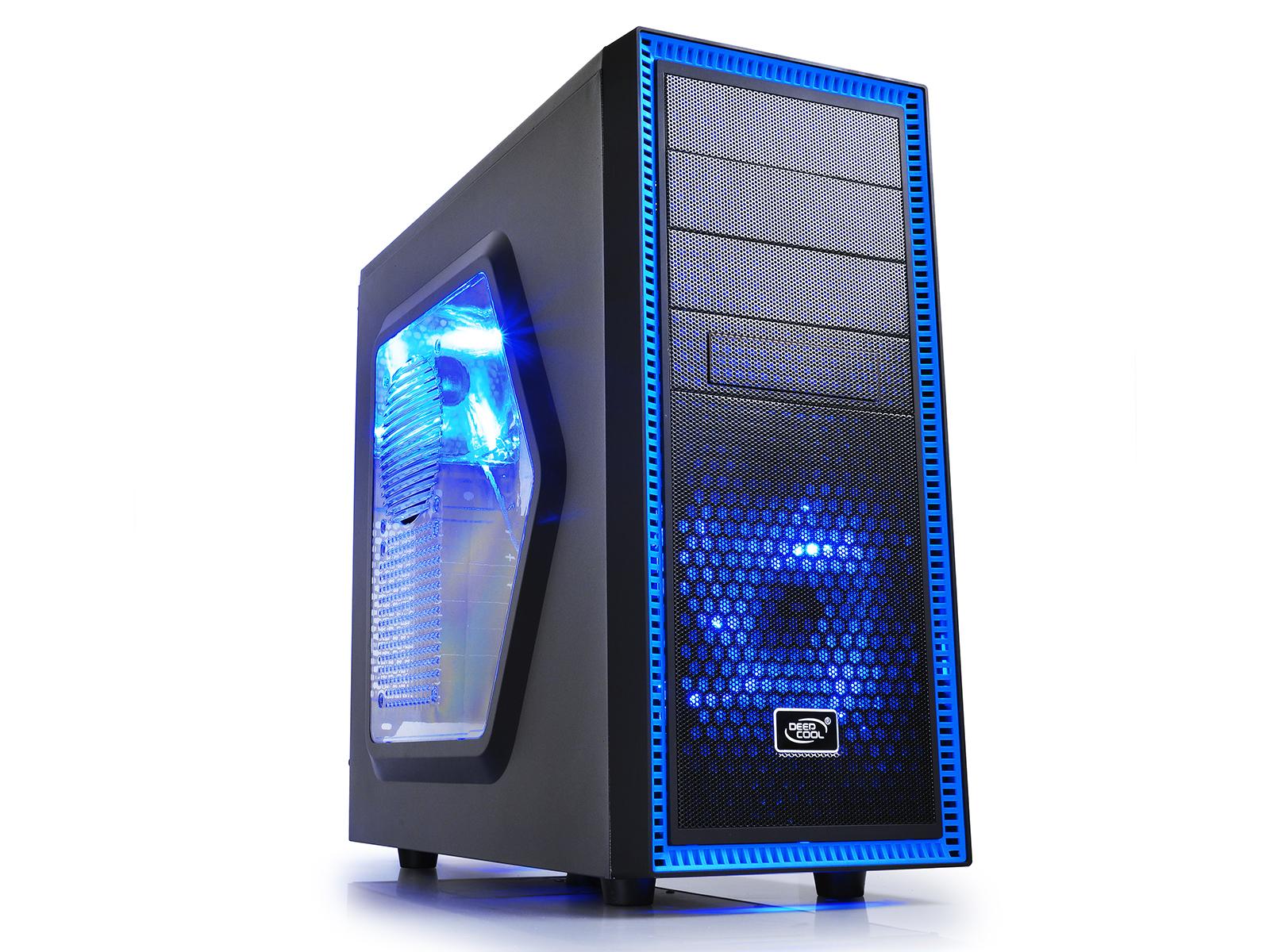 DeepCool Tesseract SW Midi-Tower Black, Blue computer case