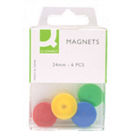 Q-CONNECT Q CONNECT MAGNETS 20MM 6PK ASSORTED