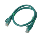 8WARE Cat 6a UTP Ethernet Cable, Snagless - 0.5m (50cm) Green
