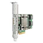 Hewlett Packard Enterprise H240 12Gb 2-ports Int FIO Smart Host Bus Adapter RAID controller PCI Express x8 3.0 12 Gbit/s