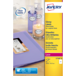 Avery Glossy Colour Labels 200x143mm L7768-40 2 p/sheet PK80