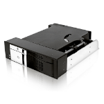"""ICY BOX IcyBox IB-172SK-B Tray-less module for 1x 2.5"""" and 1x 3.5"""" SATA HDDs in 1x 5.25"""" bay"""