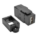 Tripp Lite USB 2.0 All-in-One Keystone/Panel Mount Coupler (F/F), Black