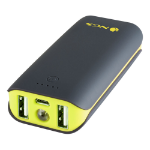 NGS PowerPump Duo 4400 Universal Powerbank with Two USB Ports for Tablets and Phones, 4400 mAh, Yellow/B
