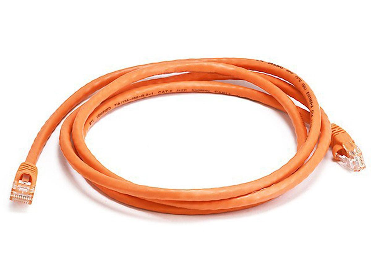 Monoprice 5ft Cat6 Utp 1524m U Orange Networking Cable Super Flat Cat5e Shielded Network Thin Ribbon Patch Cord