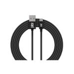 Juice JUI-CABLE-MICRO-3M-RND-BLK USB cable 2.0 USB A Micro-USB B Black CABLEMICRO3MRNDBLK
