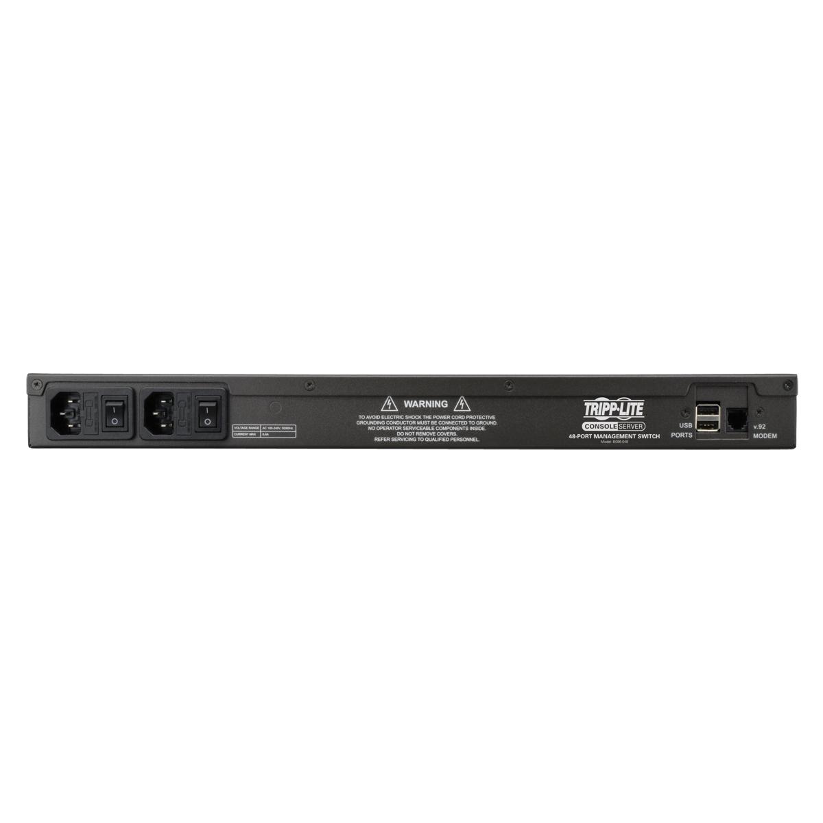 Console Terminal: Tripp Lite 48-Port Serial Console/Terminal Server, 2 In