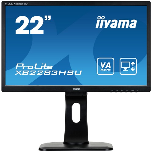 "iiyama ProLite XB2283HSU-B1DP 21.5"" Full HD LED Matt Flat Black computer monitor LED display"