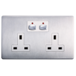 EnerGenie MIHO023 socket-outlet Stainless steel