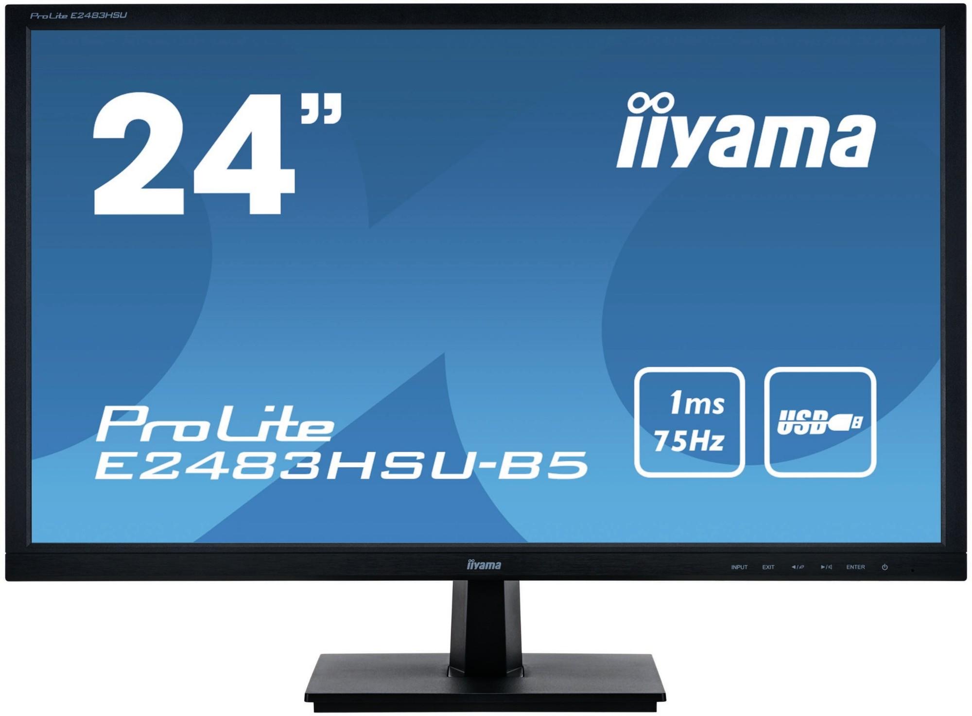 iiyama ProLite E2483HSU-B5 computer monitor 61 cm 24