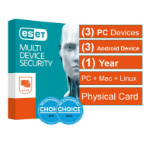Eset Multi Device Security (Advanced Protection) 3 Windows PCs or Macs or Linux + 3 Android Devices 1 Yea