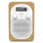 Pure Evoke H2 Portable Analog & digital Oak, White radio