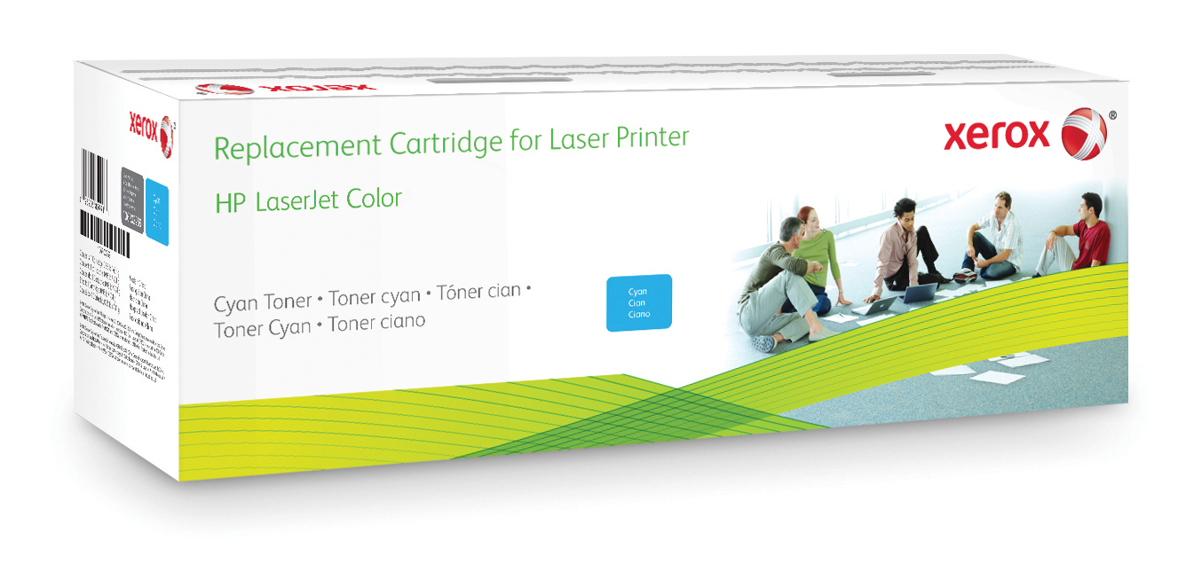 Xerox Cyaan toner cartridge. Gelijk aan HP CF361A. Compatibel met HP Colour LaserJet Enterprise M552, Colour LaserJet Enterprise M553, Colour LaserJet Enterprise M577