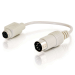 C2G 81499 cable ps/2 0,15 m 6-p Mini-DIN Blanco