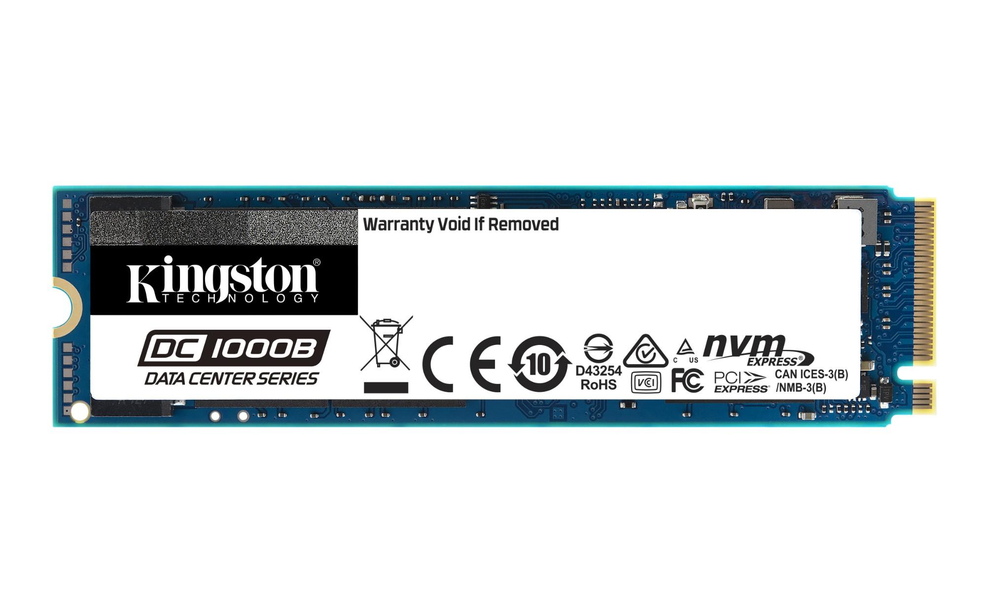 Kingston Technology DC1000B M.2 480 GB PCI Express 3.0 3D TLC NAND NVMe