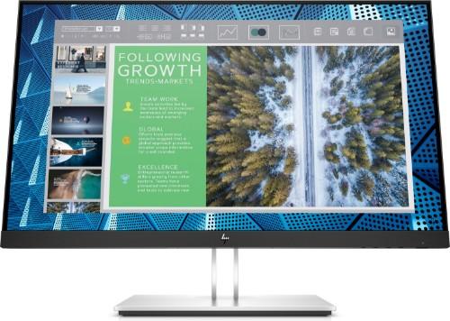 "HP E-Series E24Q G4 60.5 cm (23.8"") 2560 x 1440 pixels Quad HD Black, Silver"