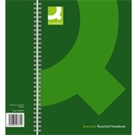 Q-CONNECT WIREBOUND A4 HBACK RECY GREEN