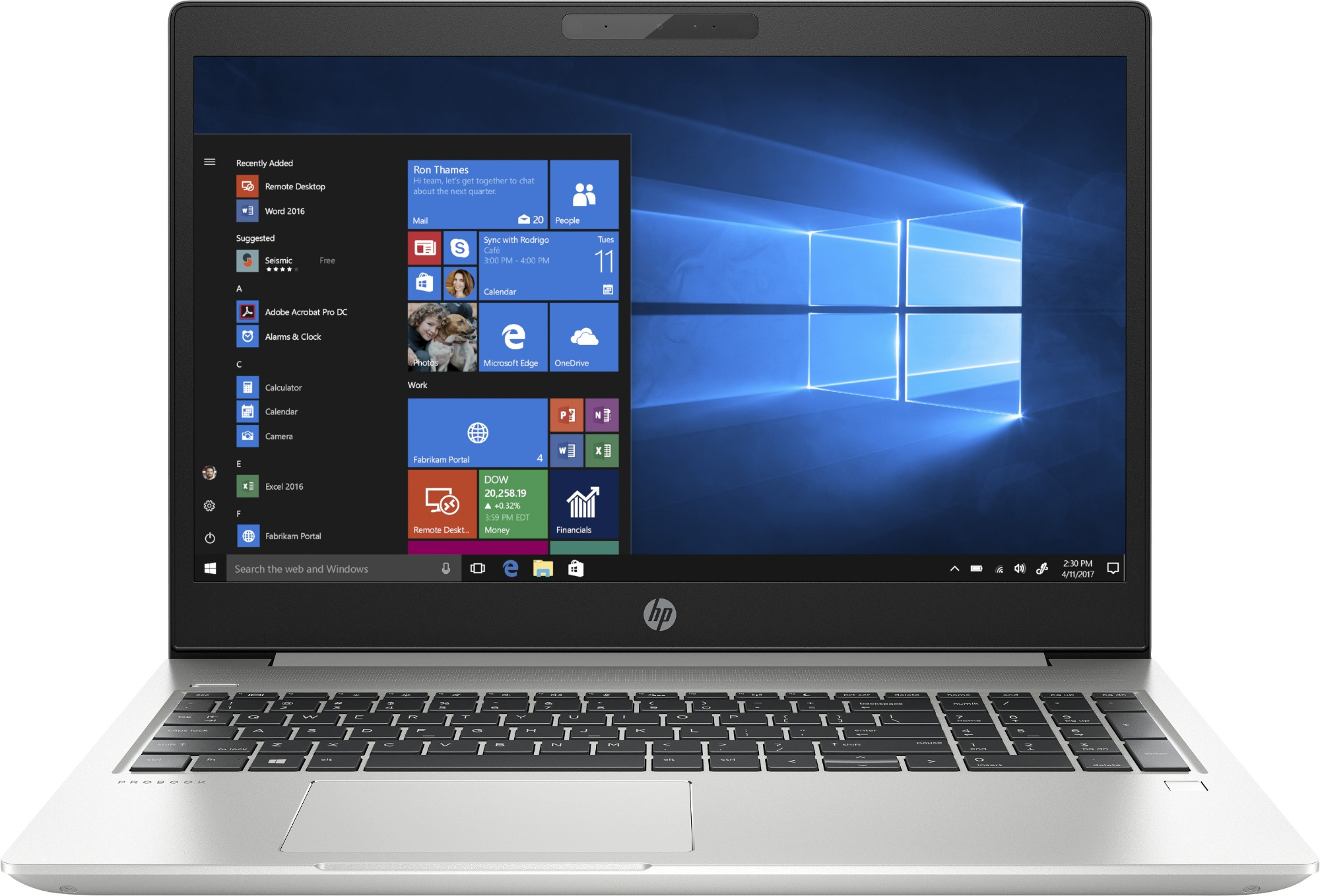 "HP ProBook 450 G6 Silver Notebook 39.6 cm (15.6"") 1920 x 1080 pixels 8th gen Intel® Core™ i5 16 GB DDR4-SDRAM 512 GB SSD Wi-Fi 5 (802.11ac) Windows 10 Pro"