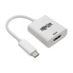 Tripp Lite USB-C (Type-C) to HDMI 4K Adapter, USB 3.1, Gen 1, Thunderbolt 3, 4K @ 60 Hz, M/F, White