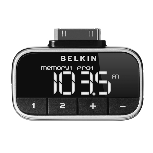 Belkin Compact & stylish click-in FM transmitter for iPod