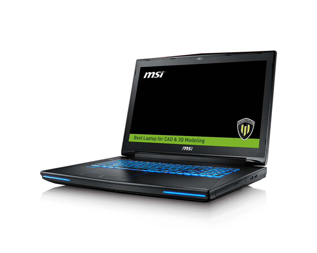 """MSI Workstation WT72 6QN-229UK 2.9GHz i7-6920HQ 17.3"""" 1920 x 1080pixels Black"""