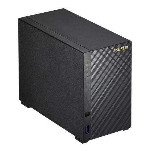 ASUSTOR AS3102T V2 2-Bay NAS Enclosure (No Drives), Dual Core CPU, 2GB DDR3L, HDMI, USB3, Dual GB LA