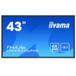 "iiyama LH4342UHS-B3 signage display Digital signage flat panel 108 cm (42.5"") IPS 4K Ultra HD Black Built-in processor Android 8.0"