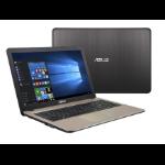 """ASUS F540UA-DM1059T Black,Chocolate Notebook 39.6 cm (15.6"""") 1920 x 1080 pixels 7th gen Intel® Core™ i3 i3-7020U 8 GB DDR4-SDRAM 1256 GB HDD+SSD"""