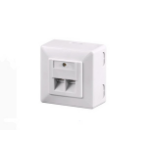 Microconnect Cat6, 2 x RJ-45 socket-outlet White