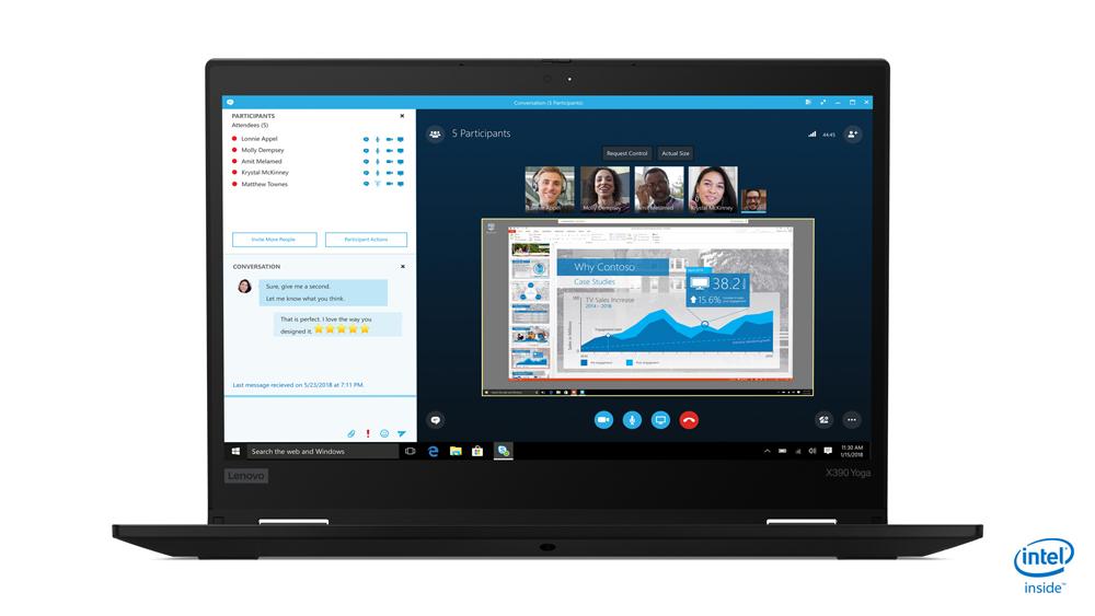 "Lenovo ThinkPad X390 Yoga Black Hybrid (2-in-1) 33.8 cm (13.3"") 1920 x 1080 pixels Touchscreen 8th gen Intel® Core™ i5 i5-8265U 8 GB DDR4-SDRAM 256 GB SSD 3G 4G"