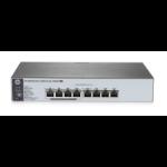 Hewlett Packard Enterprise 1820-8G-PoE+ (65W) Managed network switch L2 Gigabit Ethernet (10/100/1000) Power over Ethernet (PoE) 1U Grey