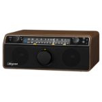 Sangean WR-12BT Personal Analog Walnut Clock/Portable Radio