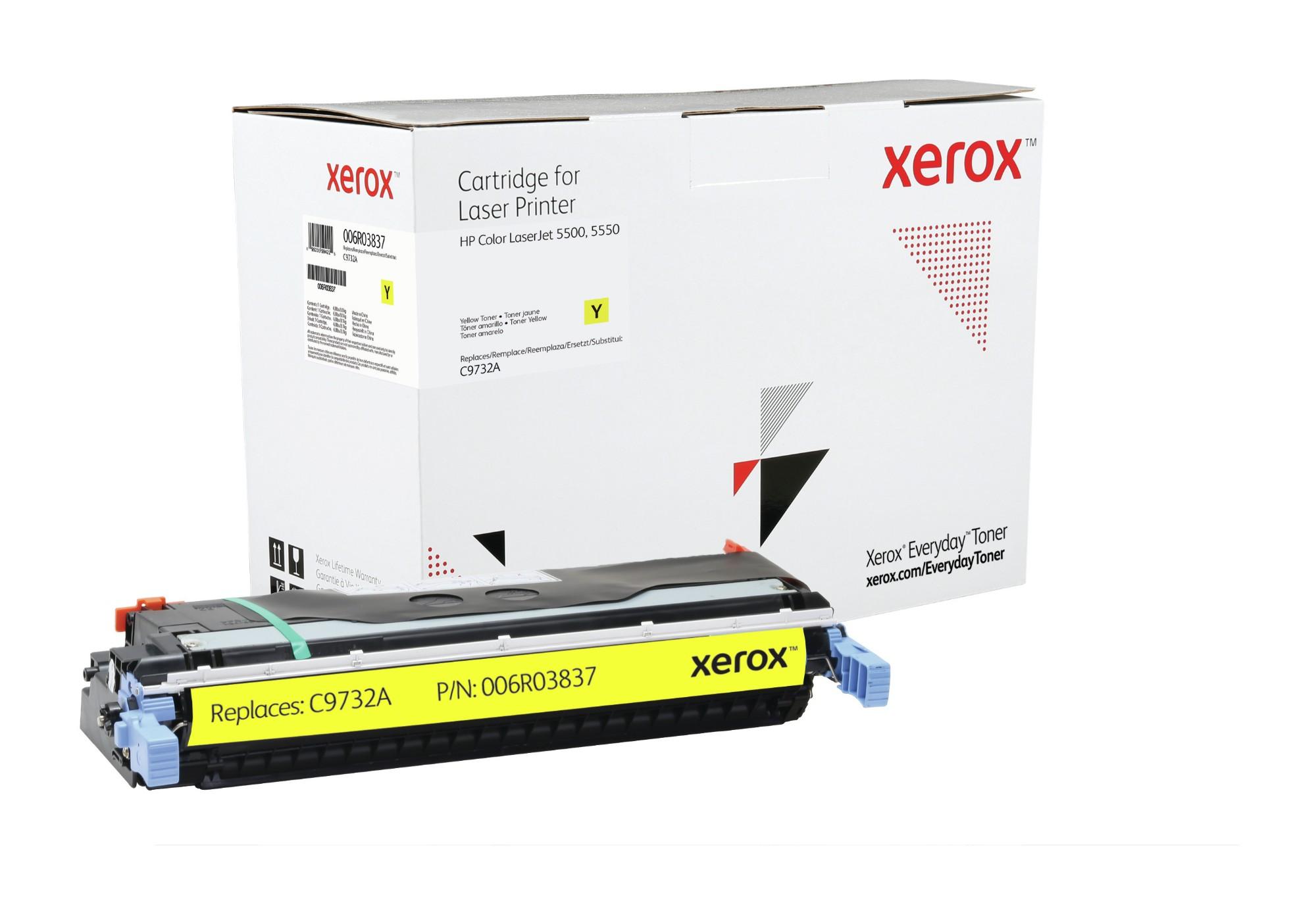 Xerox Tóner de Rendimiento estándar Amarillo Everyday, HP C9733A equivalente de , 12000 páginas