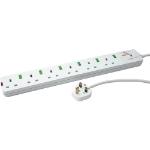 Videk 9906B surge protector 6 AC outlet(s) 5 m White