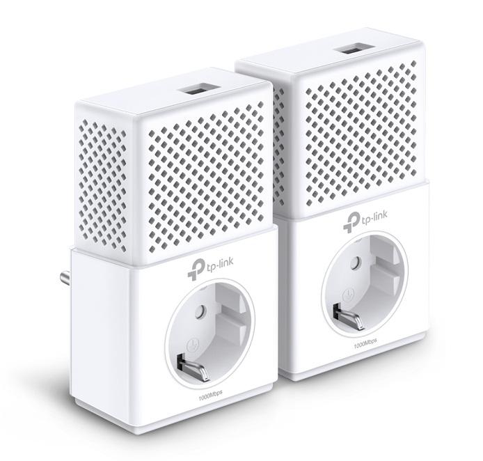 Homeplug Adapter Av1000 Gigabit 1000mbps Kit Ac Passthrough