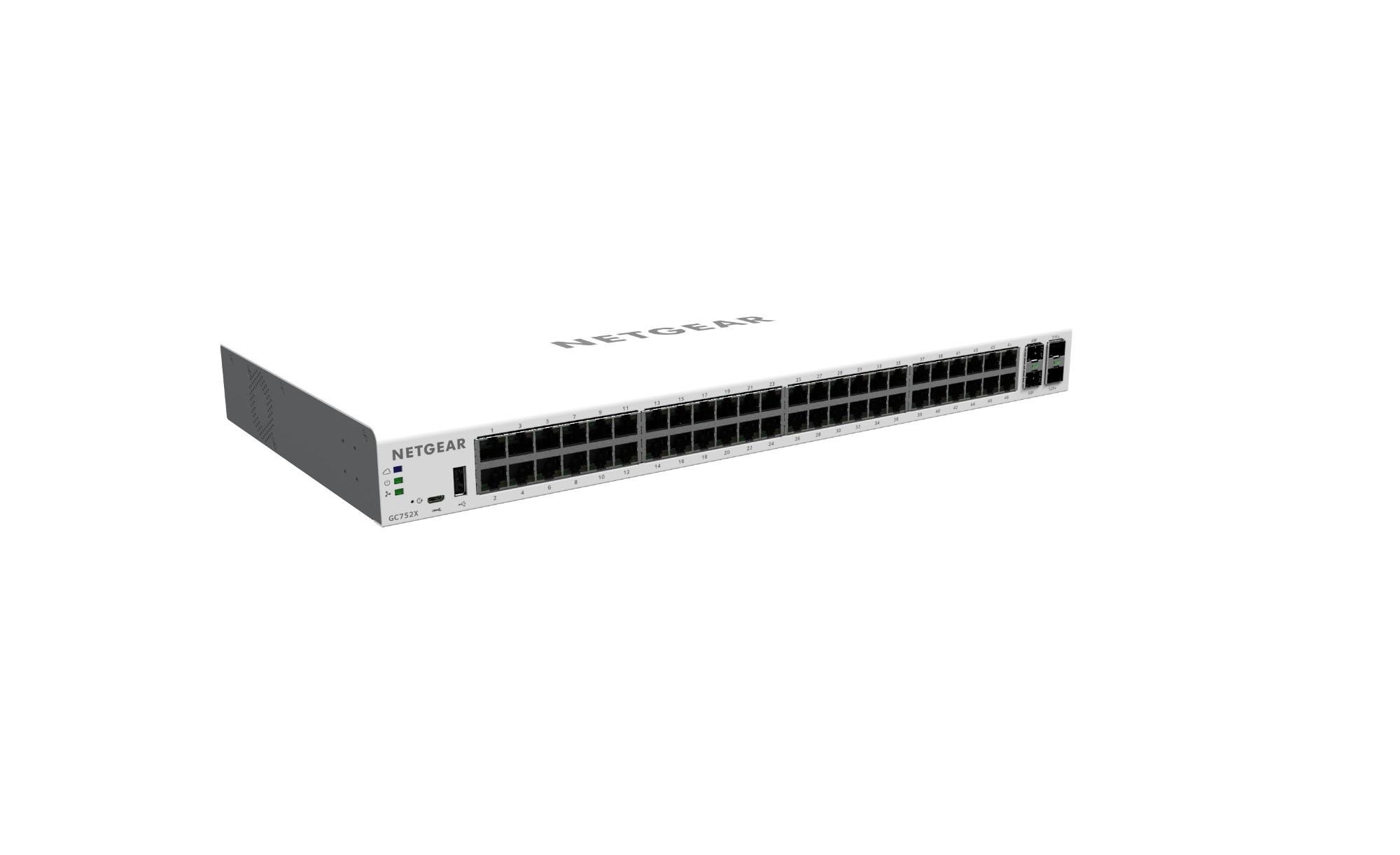 Netgear GC752X Gestionado L2/L3/L4 Gigabit Ethernet (10/100/1000) Gris