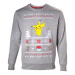 Pokémon Men's Dancing Pikachu Christmas Jumper, Extra Large, Grey (SW504573POK-XL)