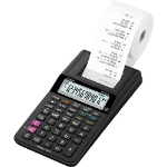 Casio HR-8RCE 12-Digit Mini Printing Calculator Black