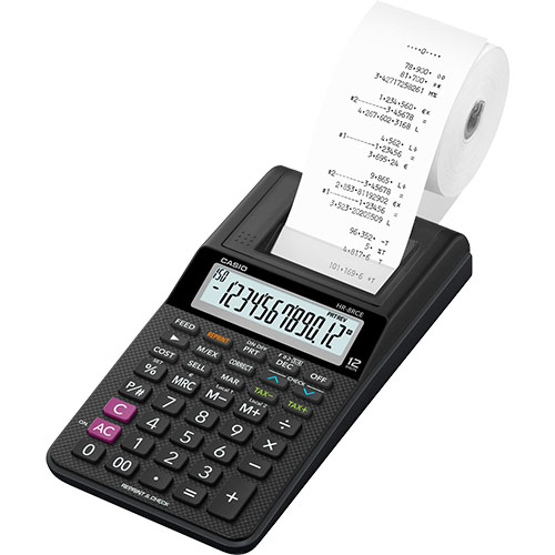 Printing Calculator (hr-8rce-bk-w-ec)