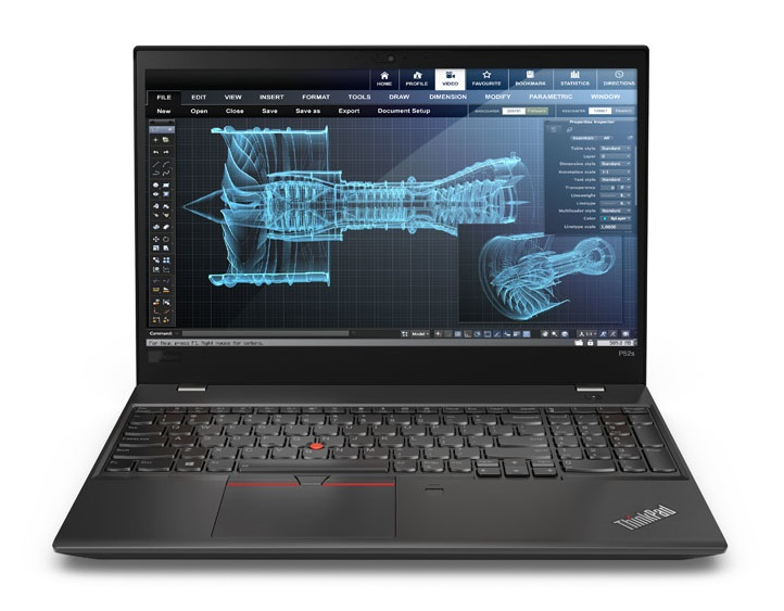 "Lenovo ThinkPad P52s Black Mobile workstation 39.6 cm (15.6"") 1920 x 1080 pixels 8th gen Intel® Core™ i7 i7-8550U 16 GB DDR4-SDRAM 256 GB SSD"