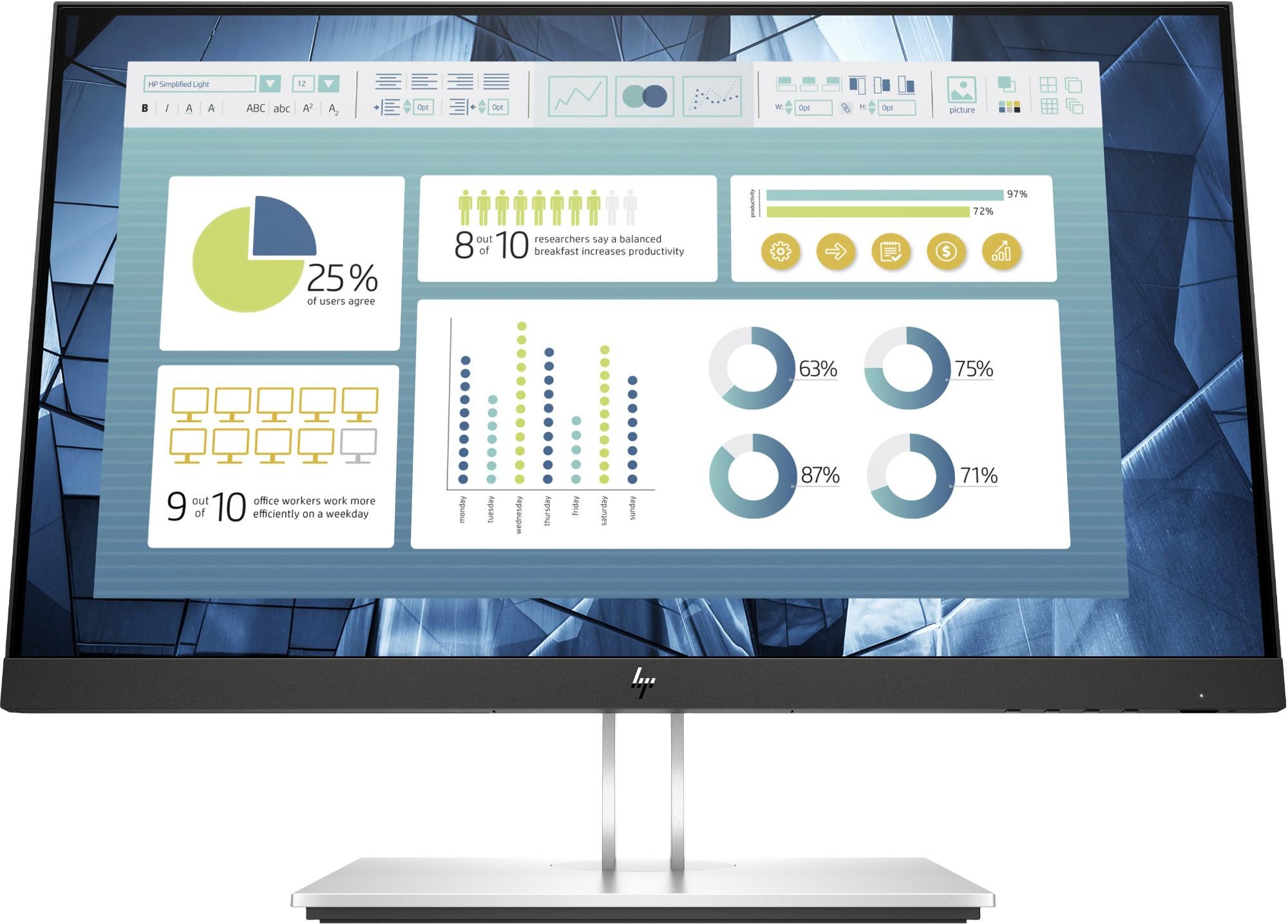 "HP E22 G4 54.6 cm (21.5"") 1920 x 1080 pixels Full HD Black, Silver"