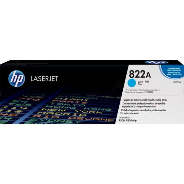 HP C8551A (822A) Toner cyan, 25K pages @ 5% coverage