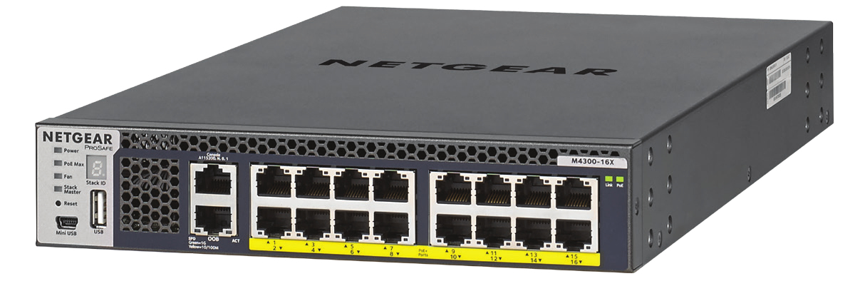 Netgear M4300-16X Gestionado L3 10G Ethernet (100/1000/10000) Negro 1U Energía sobre Ethernet (PoE)